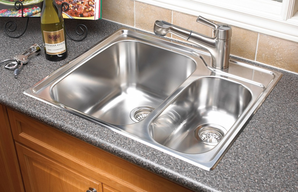 Beautiful Undermount Or Overmount Sink With Different Types Of Kitchen Sinks